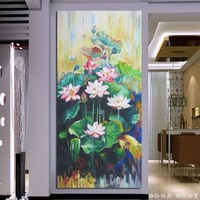 Handmade oil painting picture frame entranceway decorative painting realism oil painting