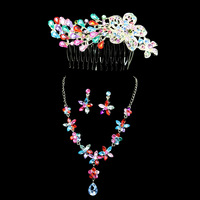 Huachang accessories the bride accessories chain sets the wedding hair accessory necklace 051