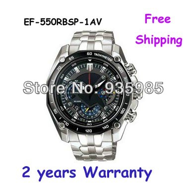 NEW EF-550RBSP-1AV EF-550RBSP-1A Men's Watch 1/20 Pendulum Function Swing Function EF 550RBSP 550(China (Mainland))