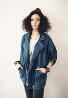 2013 New Women's Fashion Harajuku Jean Jackets Female Winter Denim Jacket Women Plus Size Varsity jacket XL Free Shipping