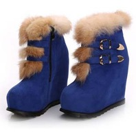 2013 buckle fashion knight high heel martin ankle women snow boots for women and woman  shoe #J10115H-2