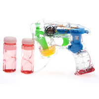 2376 music bubble gun fully-automatic transparent electric toy bubble water belt bottle