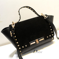 2013 women's fashion handbag scrub rivet bag punk bags swing bag one shoulder handbag