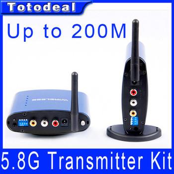 5.8G Wireless Video Audio Transmitter Receiver Sender w/Wireless IR Remote extender Repeater