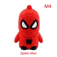 2014 new cute Super Hero 64GB 32GB 16GB 8GB 128MB 5 mdoels USB 2.0 memory disk stick Flash Pen Drive Data Storage Handy Thumbs