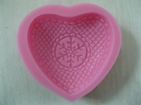 Free Shipping New Arrival Love shaped 3D silicone cake fondant mold, cake decoration tools, soap, candle moulds