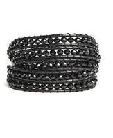 Hote Sale! black 5 wrap beaded bracelets new design handmade bracelet jewelry free shipping