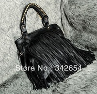 Free shipping tassel women bags across Europe and the United States single shoulder slope package portable popular bags