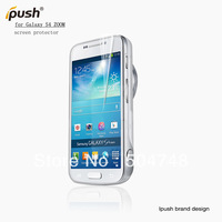 Free Shipping 5pcs/Lot Clear Handset Screen Guard Film For Samsung Galaxy S4 Zoom With Ipush Retails Package