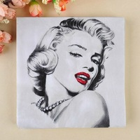 Free Shipping 20pcs/bag Fashion Marilyn Monroe print paper facial napkins paper tissue