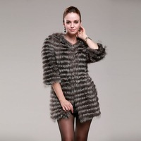 natural Fur coat for  women's 2013 medium-long fur fox fur women's wool outerwear fox fur women