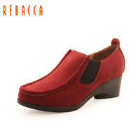 Rebecca rebacca 2013 autumn deep mouth single shoes comfortable wedges women's shoes r36e002x
