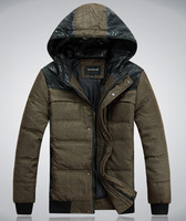 2013 Down Jacket Winter Warm Coat 90% White Duck Down Outwear Hooded Men's Parka Clothes Big size L XL XXL XXXL W1039