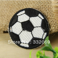 Factory DIY Sewing Accessory Fashion Football Sticker Designer Embroidery Patches Badges Free Shipping