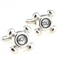 Hot Cold  fashion Cuff link 2 Pairs Free Shipping Crazy Promotion for gift