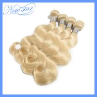 aliexpress best selling New Star bleach Blonde color 613 Body Wave Brazilian Virgin Human Hair weave wavy 4pcs mixed lengths