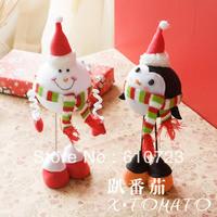 whole sales,felt carft,Christmas decoration ,decorations gift snowman penguin gift fabric