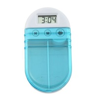 1pc Digital Pill Box Timer With Electric Alarm Medicine Pill Case 2 Grids 95174