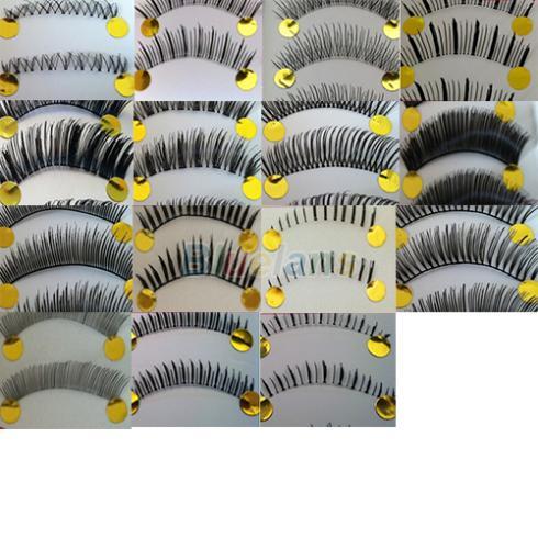 10 Pairs Natural False Eyelashes Invisible Clear Band Long Black Eye Lashes Make Up Tool 1NNP(China (Mainland))