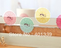 Fresh small circle lace sealing paste 1 set/ 10pcs