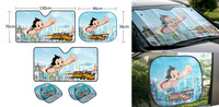 NEW Astro Boy Car accessories Windshield Sunshade 5 piece Set Blue