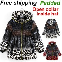 2013 new fashion baby children girls winter warm long jacket coat outwear kids thick Parkas coats 2 colors free shipping