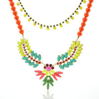 2013 new fashion bohemian multi color beads bubble bib statement pendant necklace sweater colar choker chain jewelry for women