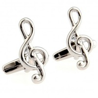 Music fashion Cuff link 2 Pairs Free Shipping Crazy Promotion for gift