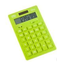Deli stationery lackadaisical 1657 fashion calculator desktop calculator 12 dual power ultra-thin fashion  free   shipping