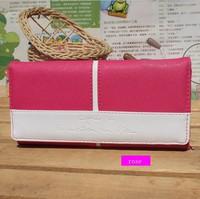 New Arrival brand wallet women color block hasp&zipper wallet fashion lady beautiful purse clutch multicolour wholesale&Retail