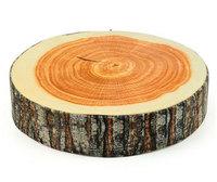 Creative high simulation cushion emulation wood block pillow personalized birthday gift  round wood models