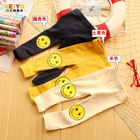 100% Cotton  ! spring and autumn baby girls legging children infant cartoon smile trousers pants