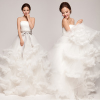 2013 tube top princess train Wedding Dresses Luxury wedding design elements atmosphere clouds free home delivery church wedding