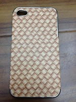HEAD CASE HERRINGBONE WOVEN PAPER PATTERN BACK CASE COVER FOR APPLE iPHONE 4 4S