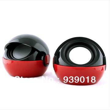 Clamshell laptop computer multimedia portable mini speaker mini stereo subwoofer 2.0USB-BLACK(China (Mainland))