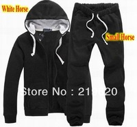 Men's polo Tracksuits with Small Horse Logo Men's Zipper Cardigan Sportsuits Tracksuit Hoodies Coats Pants Jackets Drop Ship