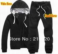 Men's polo Tracksuits with Small Horse Logo Men's Zipper Cardigan Sportsuits Tracksuit Hoodies Coats Pants Jackets Drop Ship