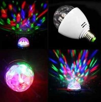 2pcs/lot XL 15 Crystal Ball Stage Lights LED E27 RGB Rotating Lamp for Xmas Party Disco