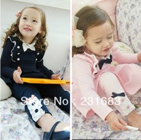 Free shipping in the spring and autumn 2013 bowknot girls leggings, lace girl pants sell like hot cakes 5pcs/lot