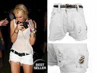 Fashion street star t denim shorts