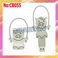 Free shipping Wholesale 4GB 8GB 16GB 32GB 64GB Couple pig USB Flash Memory Pen Drive Stick Disk,flash drive 16GB  #CB055