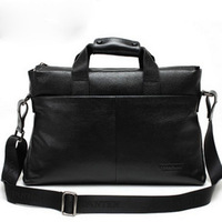 men's genuine leather briefcase/cowhide shoulder bag/laptop bag