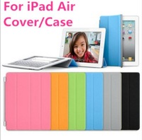 10pcs/lot.,Free shipping.Wholesale magnetic Smart Cover PU Leather Cover/Case for Apple for iPad Air iPad 5