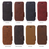 Luxury Flip PU Leather Case for iPhone 5C Phone Vintage  Crazy Horse Pattern Thin Cover