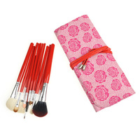Free shipping 12Pcs/Set Makeup Brush Set Tool Cosmetic pink rose Kit