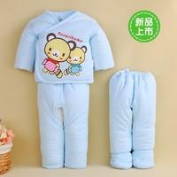 Newborn wadded jacket pack trousers piece set