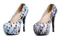 2014 Hot cheap free shipping Star canvas high heels waterproof Taiwan round 999-30 # Wholesale