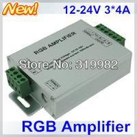 3pcs/lot, LED RGB Amplifier, DC12-24V Input, 3*4A 144W 12A used for 3528 5050 SMD RGB LED Strip Light signal extend, free ship