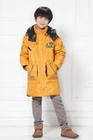 new boys winter down jacket kids long winter coat