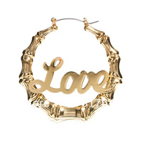 New arrive LOVE   bamboo  Shape earrings